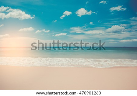 tropical sunset beach with...