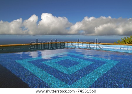 Tropical swimming pool at the ocean