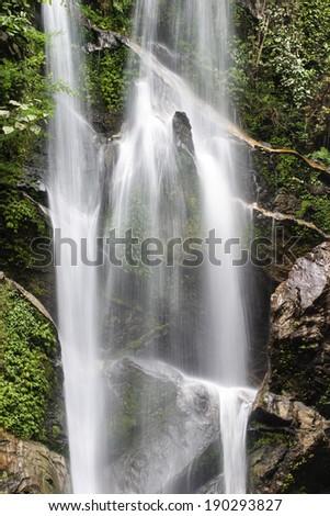 Tropical water fall stream ,Thailand