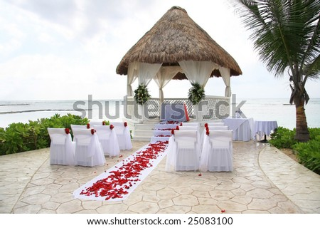 Tropical wedding location.