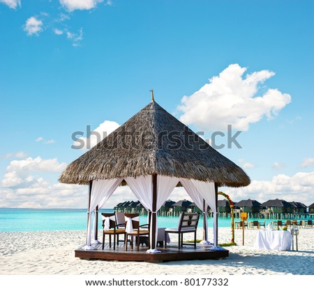 tropical wedding location - stock photo