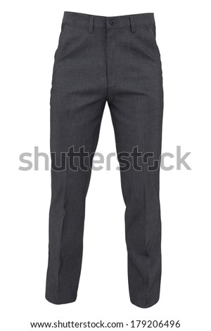trousers for men isolated on a white background #179206496