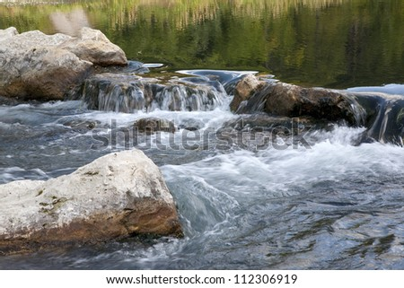 Trout stream in the Black Hills of South Dakota - stock photo