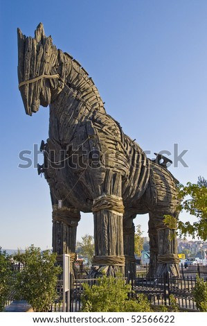 Troy wooden horse at Canakkale, Turkey