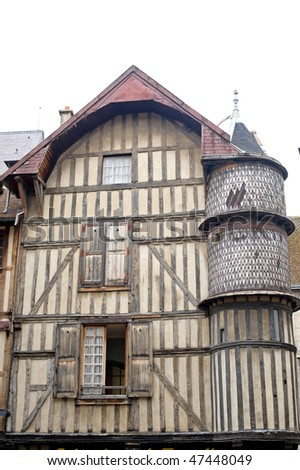 Troyes (Aube, Champagne-Ardenne, France) - Ancient half-timbered house