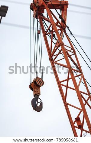 truck crane hook #785058661