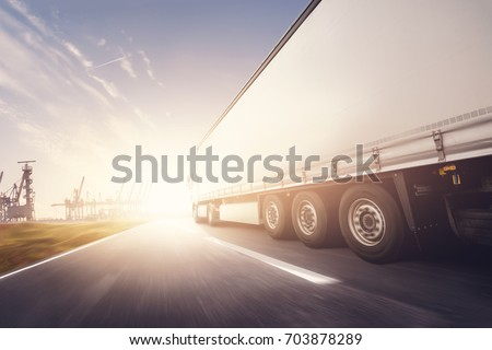 Truck driving  port