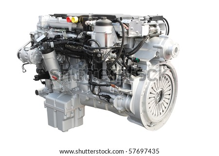 truck engine isolated on white #57697435