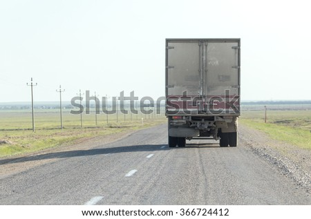truck in motion on road #366724412