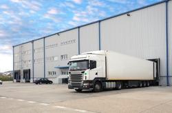 Truck in warehouse