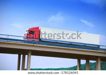 truck on a bridge