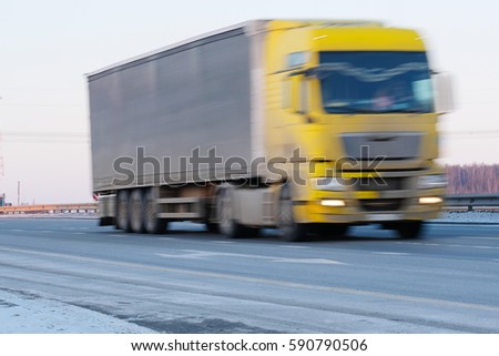 Truck on a highway #590790506