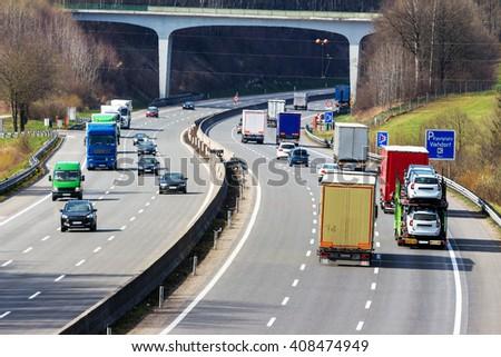 truck on highway #408474949