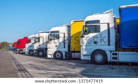 Truck on motorway rest area #1371477419