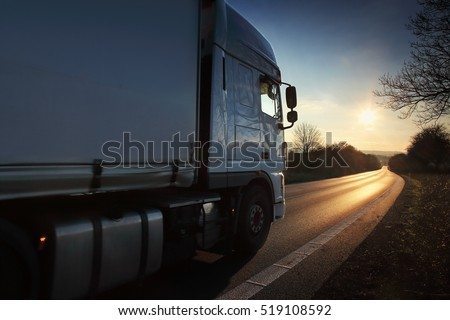 Truck on the road #519108592