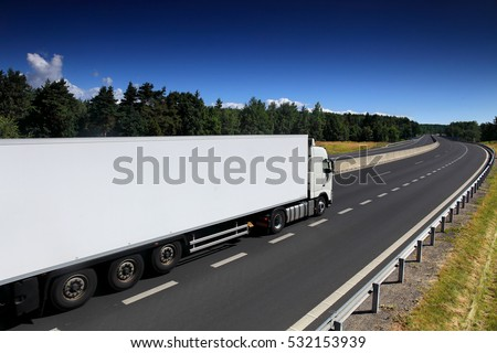 Truck on the road #532153939
