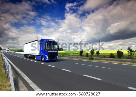 Truck  on the road
