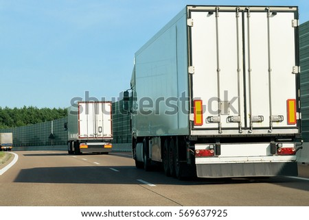 Truck on the road Poland #569637925