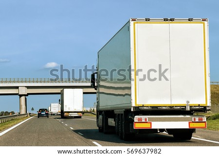Truck on the roadway in Poland #569637982
