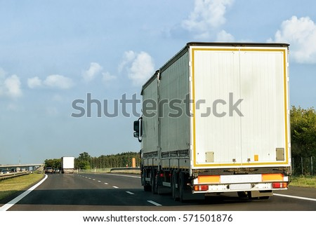 Truck on the roadway, Poland #571501876