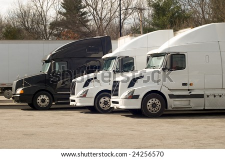 Truck trailers at a rest area #24256570