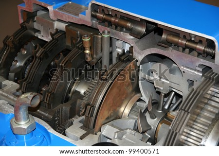 Truck transmission part. Truck gearbox part.