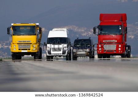 Truck, transportation, Freight cargo transport, Shipping #1369842524