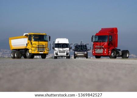 Truck, transportation, Freight cargo transport, Shipping #1369842527