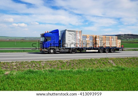 Truck transportation goods delivery spedition