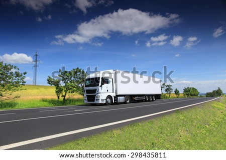 Truck transportation on the road #298435811
