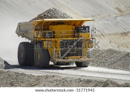 truck transporting copper ore