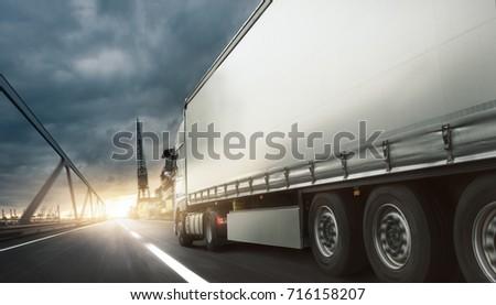 Truck transports goods