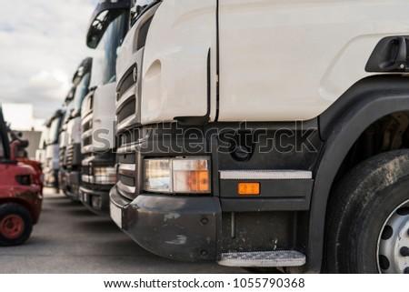 trucks in a row #1055790368