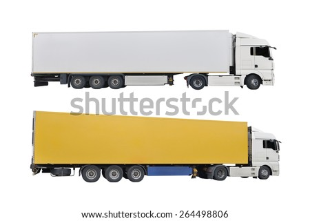 trucks isolated on a white background