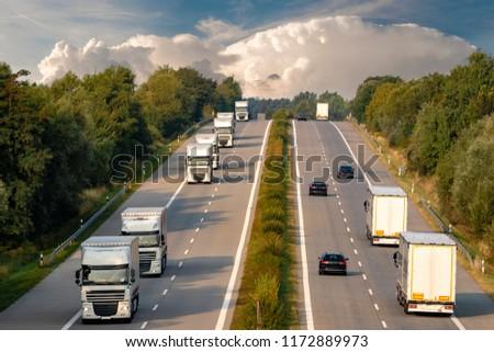trucks on the German motorway