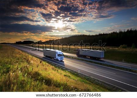 Trucks transportation