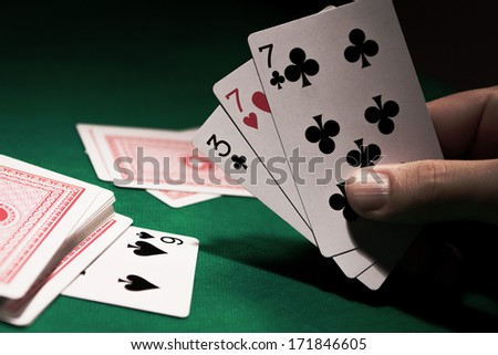 Truco, game cards typical of Brazil