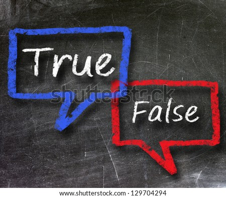 True and false chat symbol