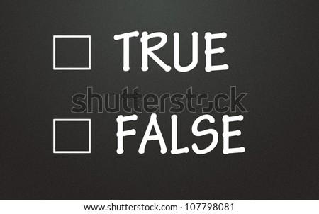 true and false choice