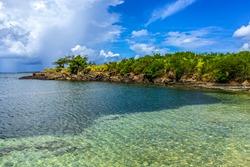 True Blue beach on st. Georges grenada