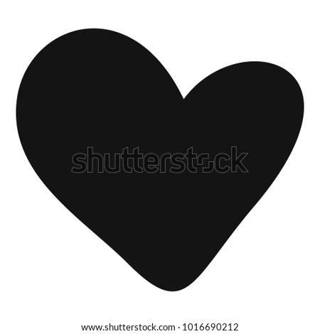 True heart icon. Simple illustration of true heart  icon for web.