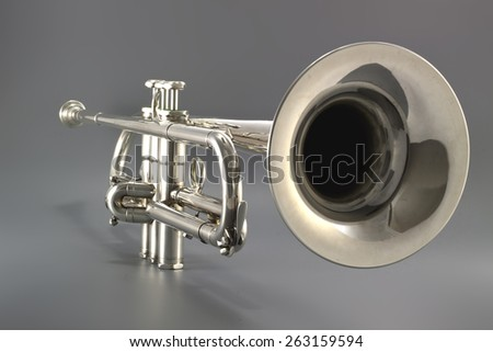trumpet close up well lighted...