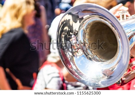 Trumpet played by street band  #1155625300