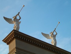 Trumpeter detail at Caesar's Palace in Las Vegas, Nevada