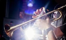 Trumpeter in a nightclub.