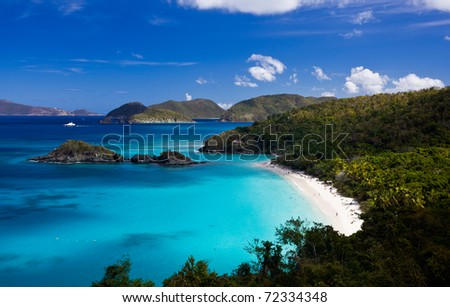 Trunk Bay on the Caribbean island of St John in the US Virgin Islands