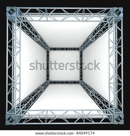 truss construction with banner filling