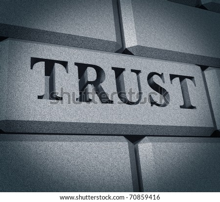 Trust honor financial business symbol integrity dependable rock solid
