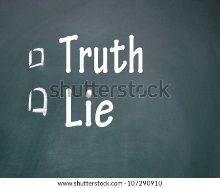truth and lie choice