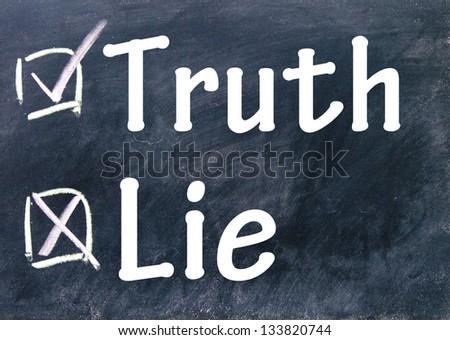 truth and lie choice